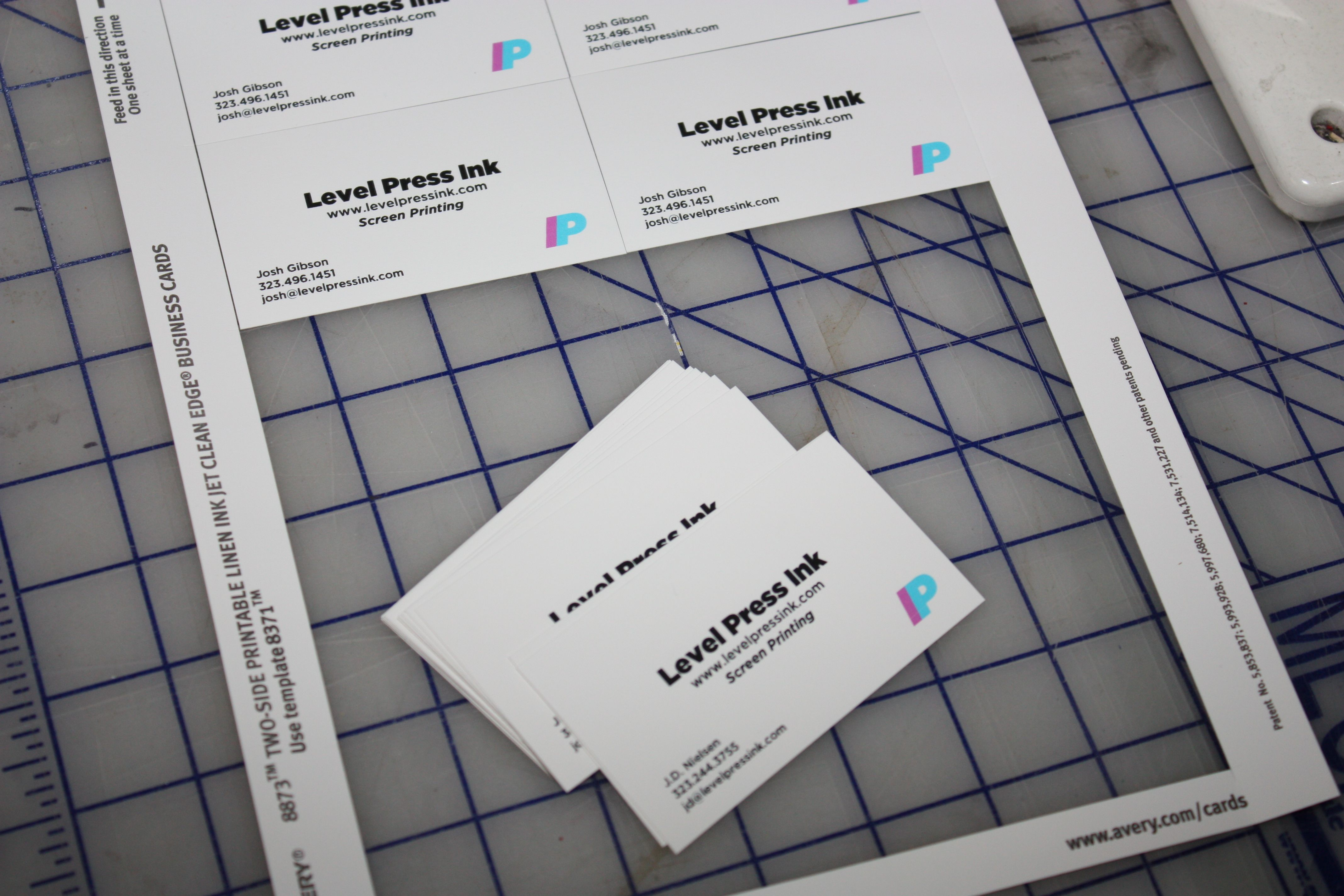 Hand made business cards level press posted in blog colourmoves