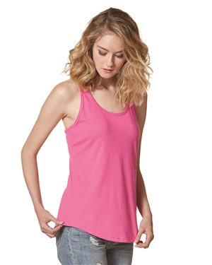 Bella + Canvas Women's CVC Gathered Racerback Tank